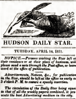 Hudson Daily Star Newspaper