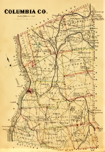 Columbia County Map