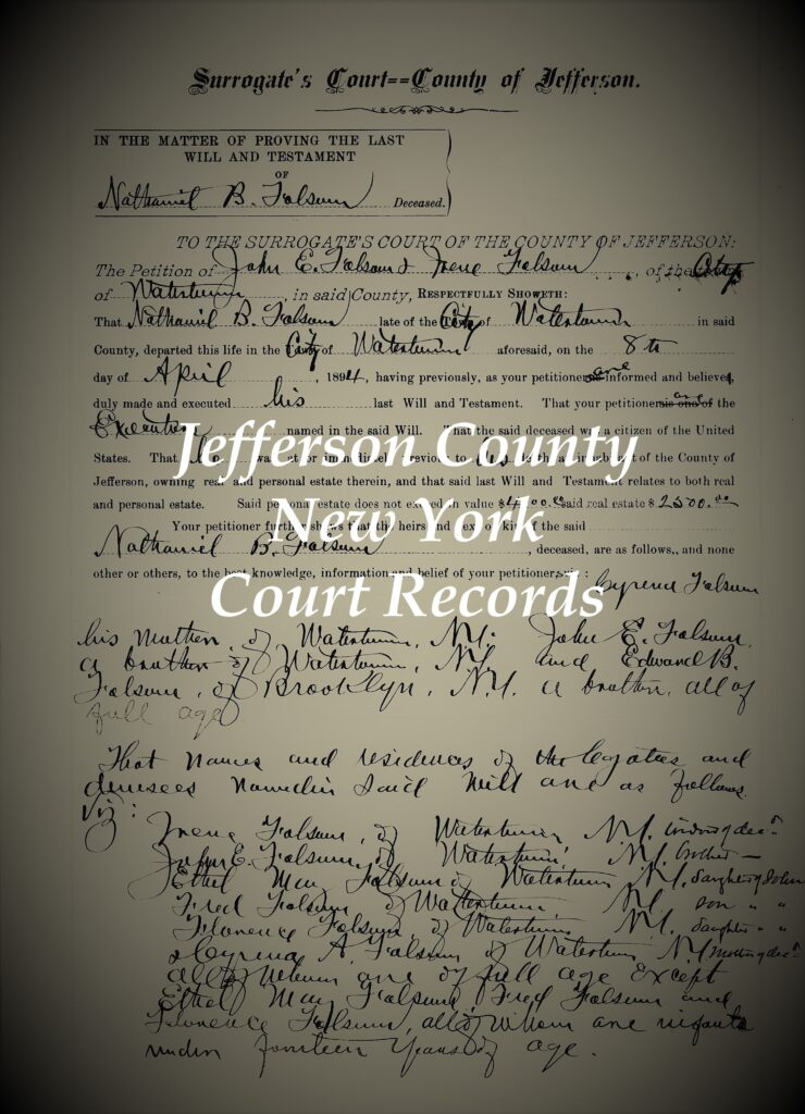 Jefferson County New York court records
